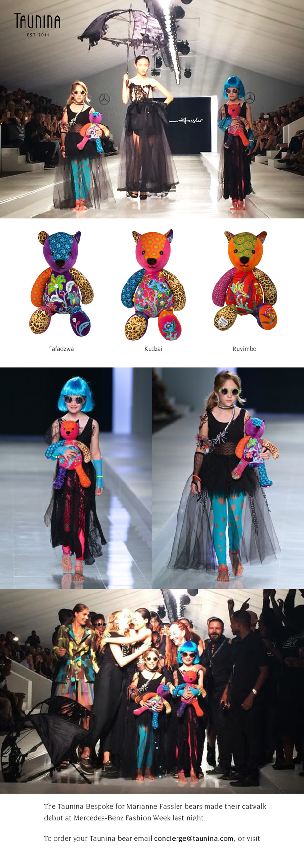 Tuanina Bespoke Bears for Marianne Fassler at Mercedes-Benz