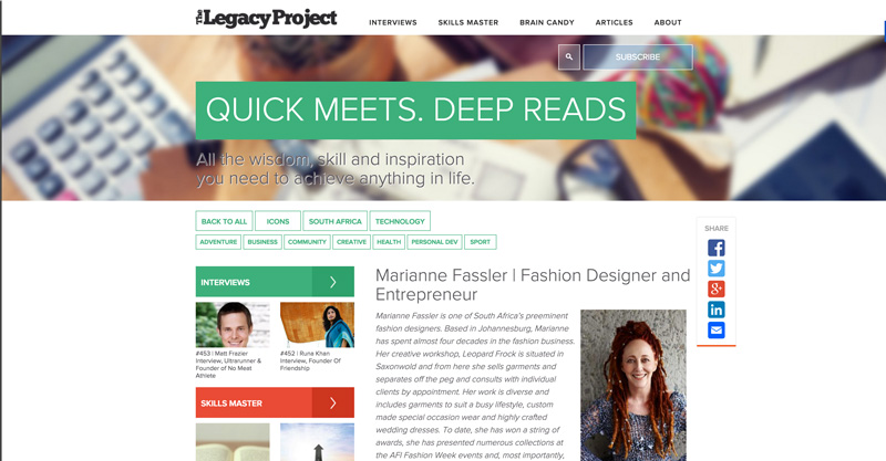 Marianne Fassler on The Legacy Project