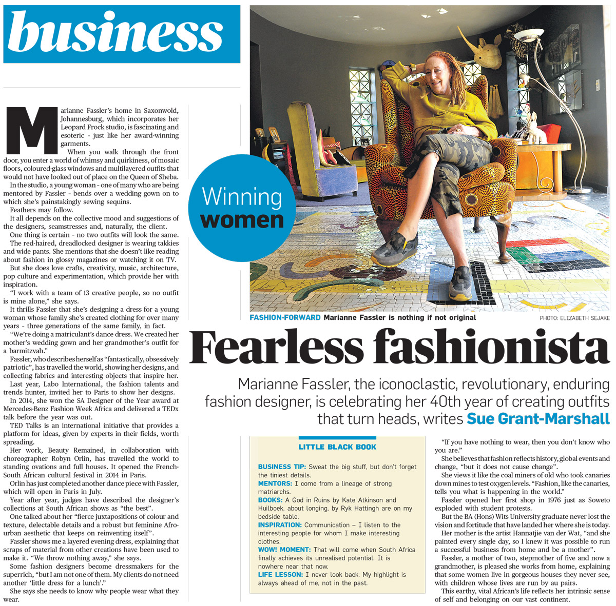 Fearless Fashionista in City Press