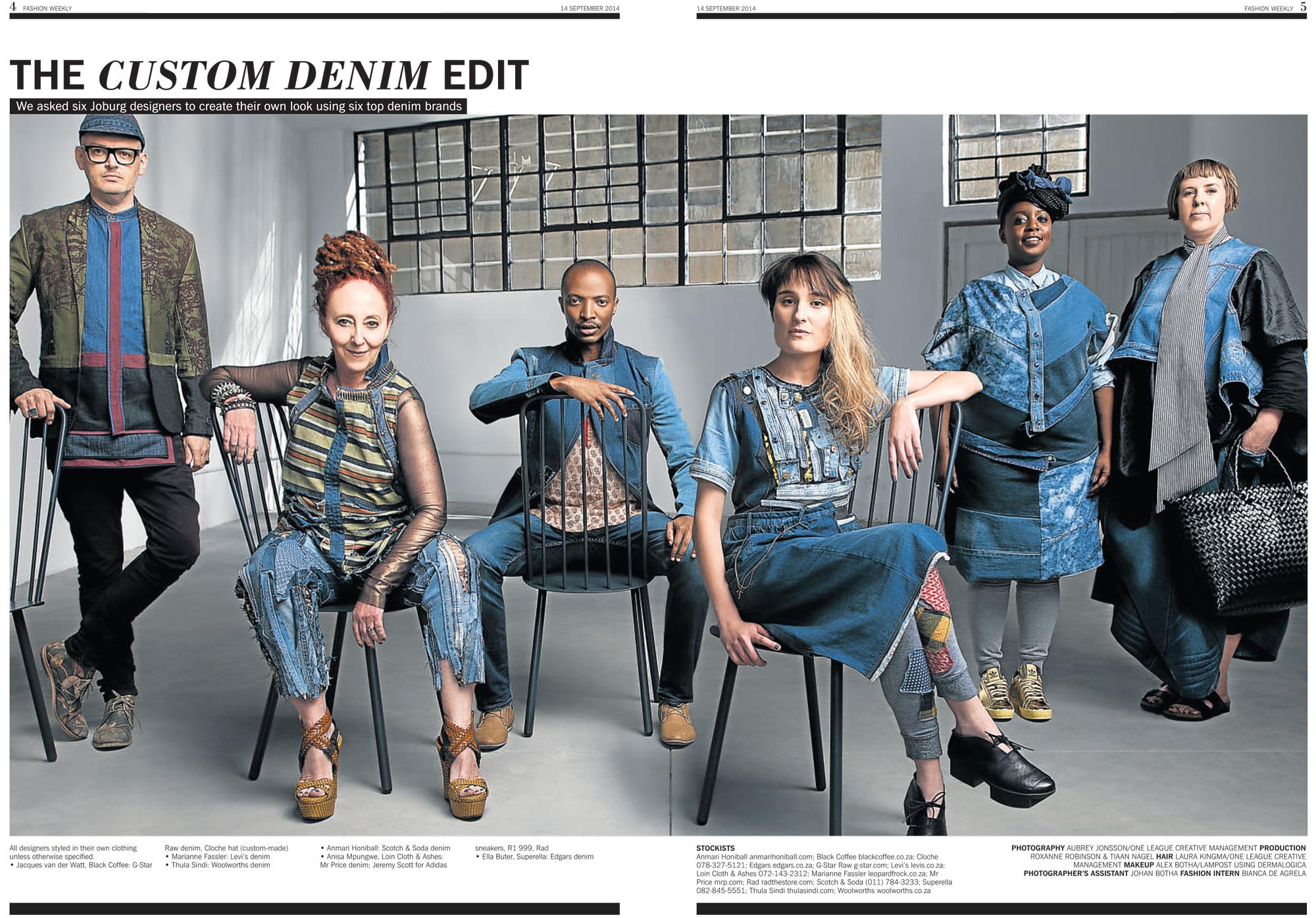 The Custom Denim Edit in Sunday Times Fashion Weekly